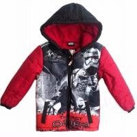 Zimná bunda Star Wars , Velikost - 128 , Barva - Červená