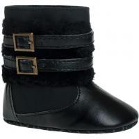 Zimné topánočky Bobo Baby so sponou , Velikost - 86 , Barva - Čierna