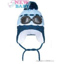 Čiapka Okuliare , Barva - Světlo modrá , Velikost - 104