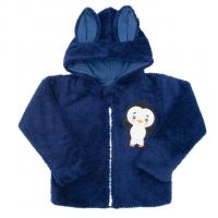 Mikina New Baby Penguin , Barva - Modrá , Velikost - 74