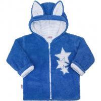 Zimní dětská mikina New Baby Ušáček , Barva - Modrá , Velikost - 80