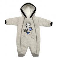 Zimní kombinéza s kapucí Koala Star Vibes , Velikost - 56 , Barva - Šedo-modrá