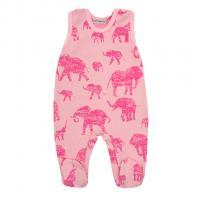 Dupačky Baby Service Sloni , Velikost - 62 , Barva - Ružová
