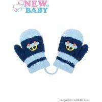 Zimné rukavičky s autom  , Barva - Tmavo modrá , Velikost - 80