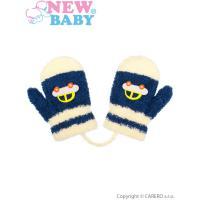 Zimné rukavičky s autom  , Velikost - 80 , Barva - Modrá