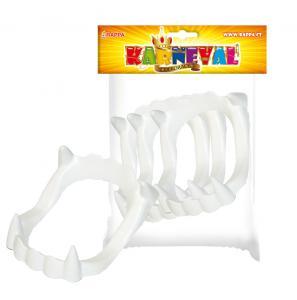 Zuby upíří karnevalové 3ks , Barva - Biela