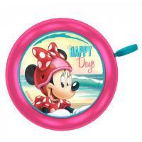Zvonček na bicykel Minnie Mouse kovový , Barva - Malinová